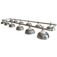 "Лампа на двенадцать плафонов ""Crown"" D38 (серебристая)"