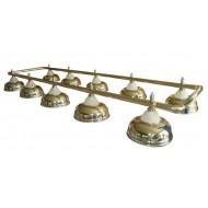 """Лампа на десять плафонов """"Crown"""" D38 (золотистая, серебр. штанга)"""