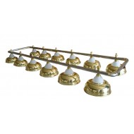 """Лампа на двенадцать плафонов """"Crown"""" D38 (золотистая, серебр. штанга)"""