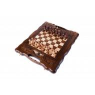 Шахматы + нарды резные с Араратом 30 с ручкой, HaleyanХарактеристики