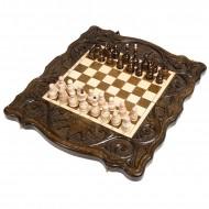 Шахматы + нарды резные «Корона» 40, Haleyan