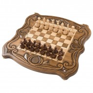 Шахматы + нарды резные 50, am451