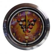 """Часы настенные """"NBU-1"""" (неон) D35см"""