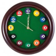 """Часы настенные """"12 шаров"""" D27 см (черные), деревянные"""