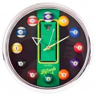 """Часы настенные """"12 шаров"""" D27 см (хром), пластик"""