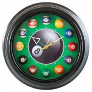 """Часы настенные """"12 шаров"""" D30 см (черные), металл"""