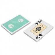 """Карты """"Fournier 2818 Casino Europe"""",100% пластик, зеленая рубашка"""