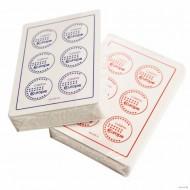 """Карты """"Fournier 2818 Casino Europe"""",100% пластик, красная рубашка"""