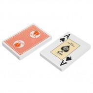 """Карты """"Fournier 2818 Casino Victoria"""", 100% пластик, оранжевая рубашка"""