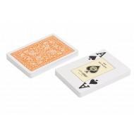 "Карты ""Fournier 2818"" 100% пластик, оранжевая рубашка"